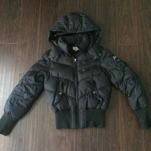 Tommy Girl Black Puff Jacket